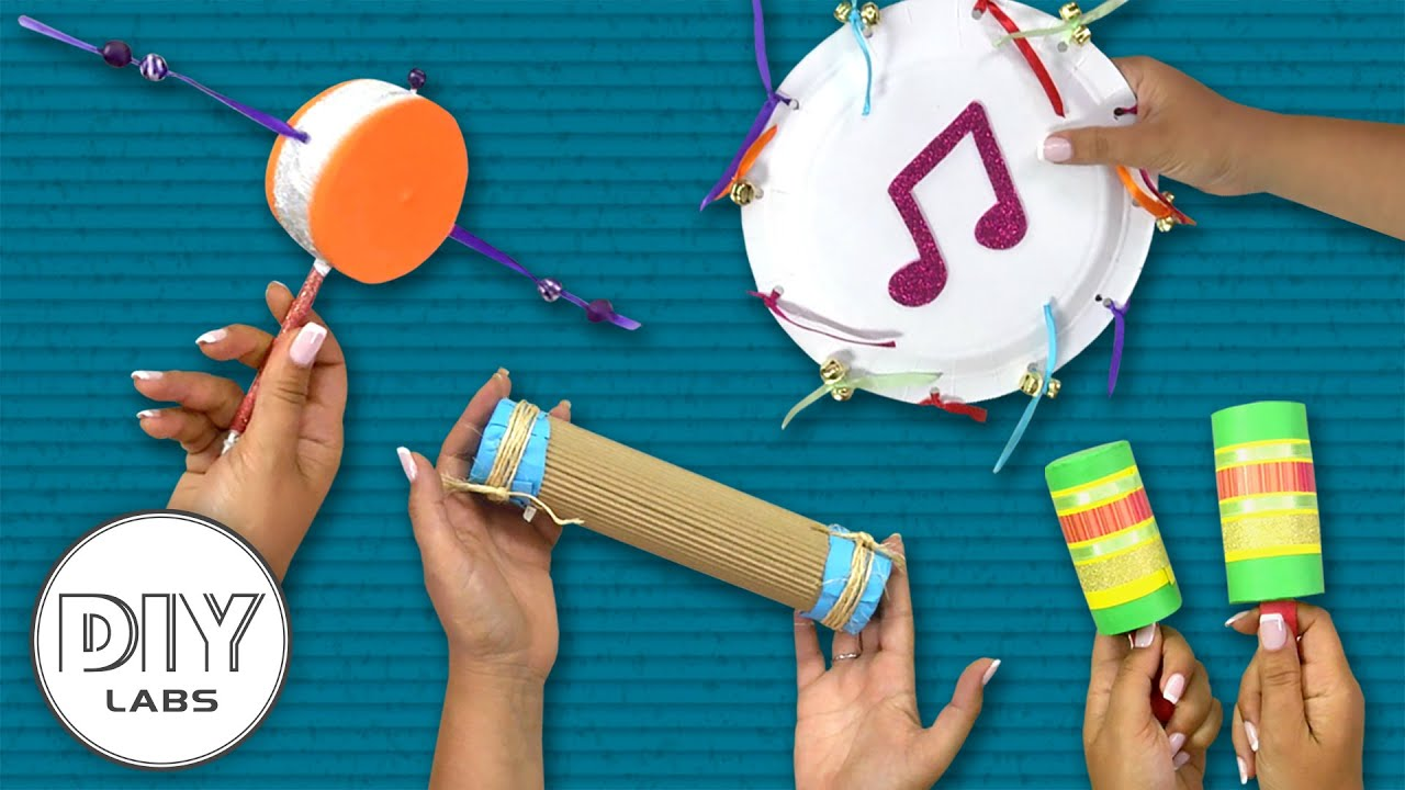 4 MUSICAL INSTRUMENTS Crafts you can do