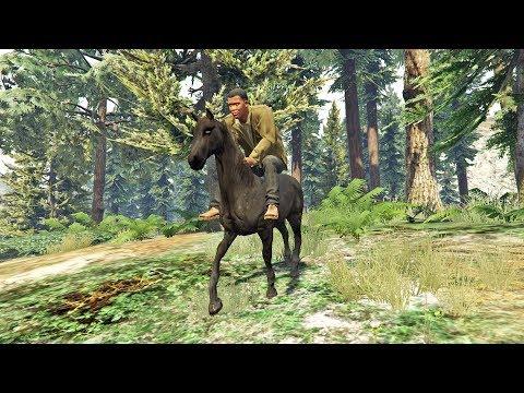 يمكنكم لعب ريد ديد 2 قبل موعد صدورها في جي تي أي 5   GTA V RDR2 HORSE MOD