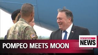 Pompeo briefs President Moon on North Korea-U.S. summit results at Blue House