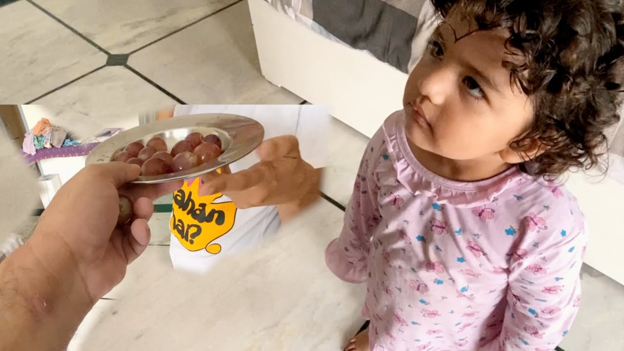 When I gave her Grapes to Mumma !! That Look !