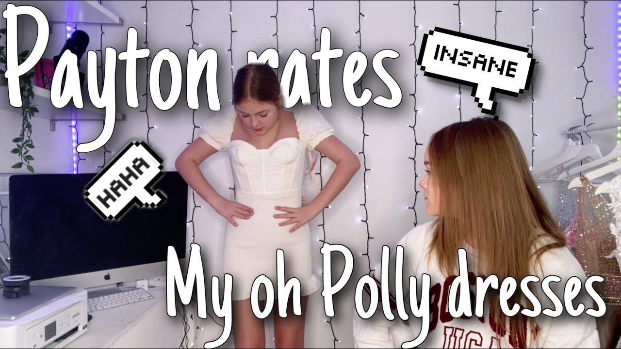 Payton rates my oh Polly dress haul