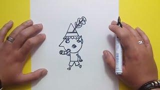 Como dibujar a Ben paso a paso - El pequeño reino de Ben y Holly | How to draw Ben