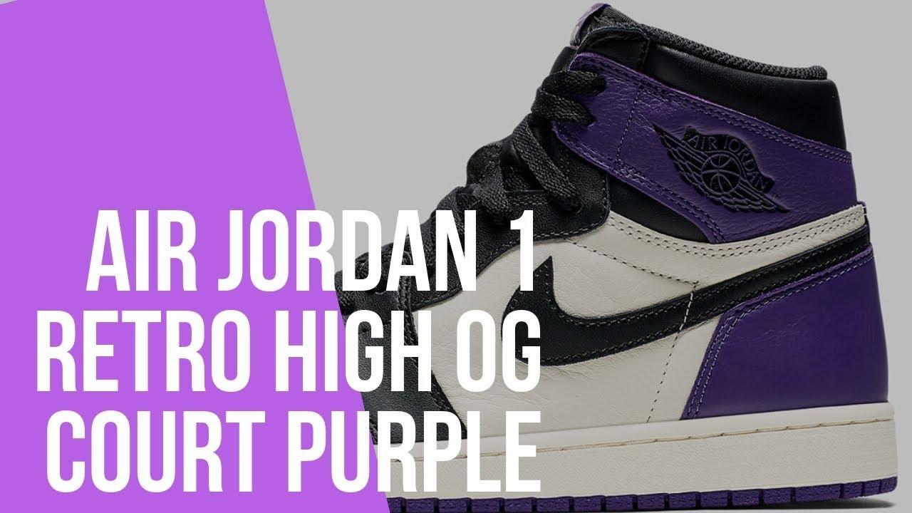 4ac8c2375e9e1a Unboxing The Air Jordan 1 Retro High OG Court Purple - YouTube