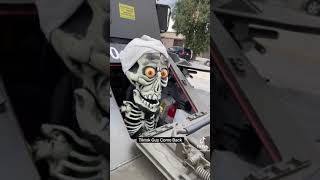 Guess who spotted Achmed driving around town?! @Itsdanielmac!