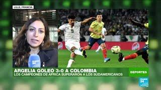 Informe desde Lille: Colombia cayó goleada 3-0 ante Argelia en un amistoso jugado en Francia