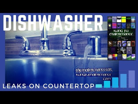 how-to-stop-dishwasher-leaking-water-from-sink-counter-top-air-gap-when-running-plus-draining