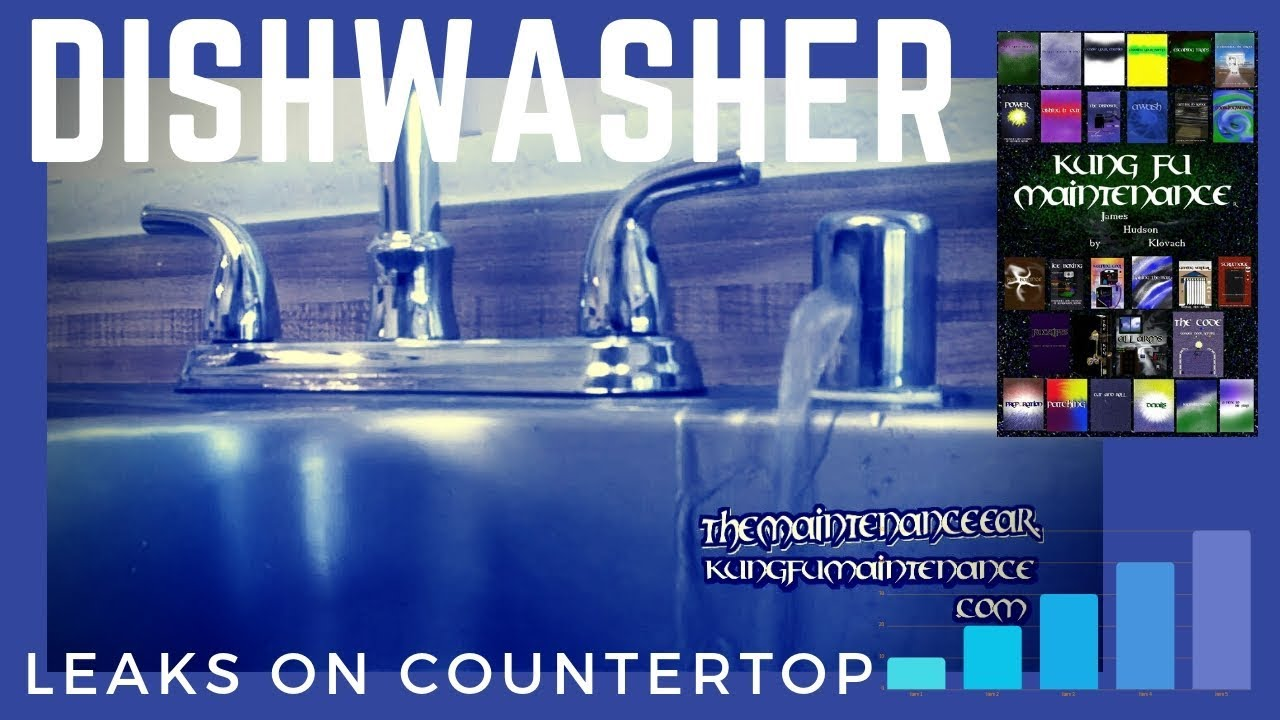 how to stop dishwasher leaking water from sink counter top air gap when running plus draining youtube