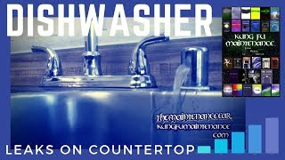 How To Stop Dishwasher Leaking Water  From Sink Counter Top Air Gap When Running Plus Draining(Kung Fu Maintenance demonstrates how to stop dishwasher from leaking water from sink counter top air gap when running plus draining. Buy The Kung Fu ..., 2013-02-18T03:45:55.000Z)