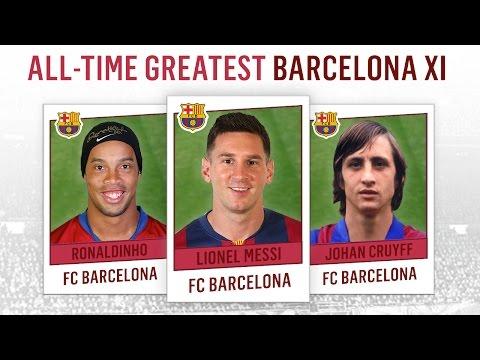 All-Time Greatest Barcelona XI | Messi, Ronaldinho, Cruyff!