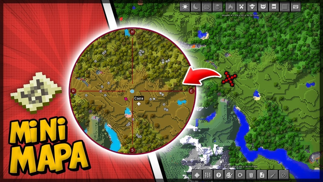 Ativando Mini Mapa No Seu Minecraft Journey Minimap Youtube