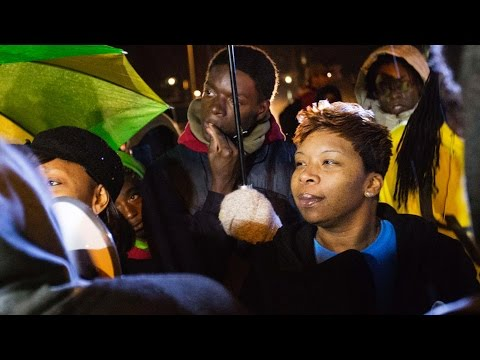 Michael Brown's Mother Speaks To Protesters