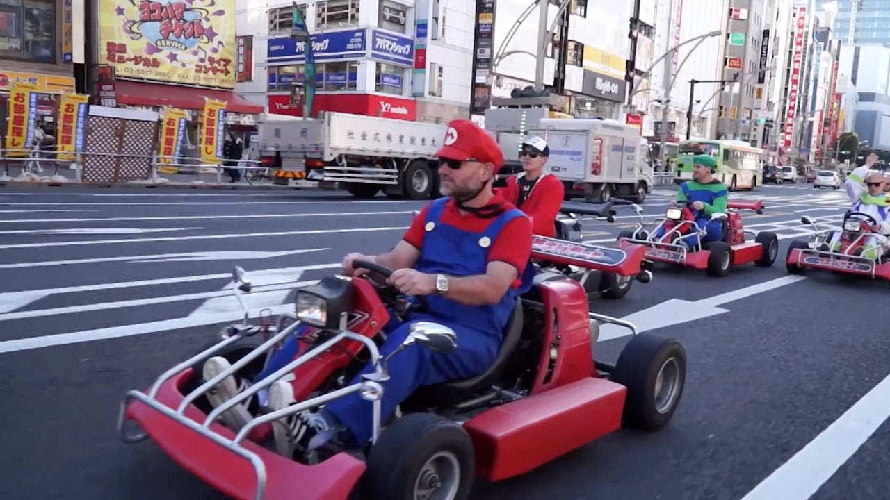 japan kart Real Life Mario Kart In Japan   YouTube