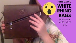 Unboxing White Rhino Bags Signature Shoulder Bag! Vegan & Cruelty Free.
