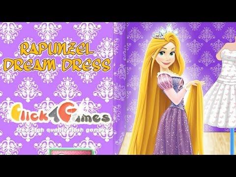 NEW Мультик онлайн для девочек—Рапунцель платье мечты—Игры для детей