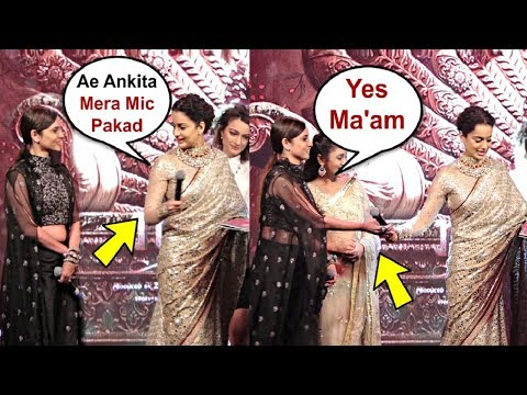 Kangana Ranaut Gives Order To Ankita Lokhande At Manikarnika Music Launch