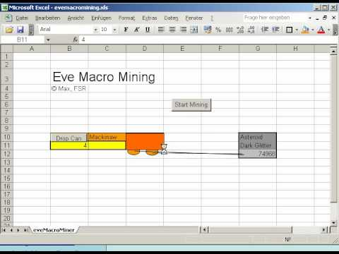eve online macro mining howto with excel youtube