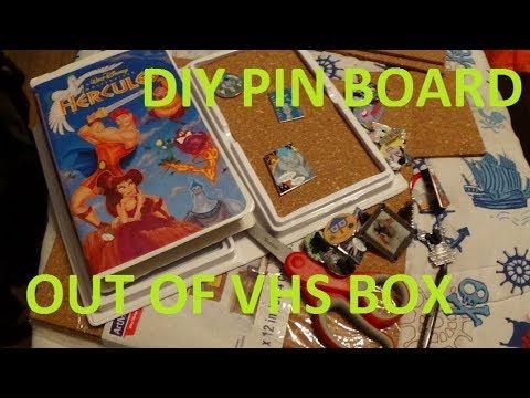 DIY #2 DISNEY VHS PIN BOX / PIN BOARD