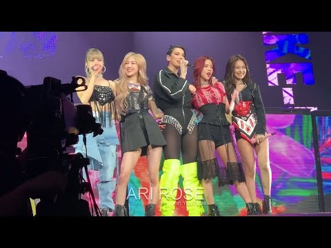 190501 Kiss And Make Up - BLACKPINK & DUA LIPA [FRONT ROW] (In Your Area Newark) Fancam