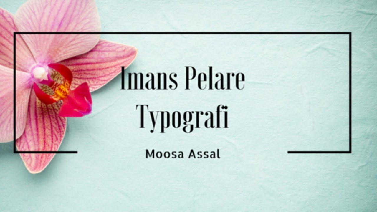 Imans 6 Pelare || Typografi