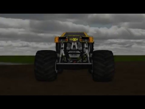 Rigs of Rods Monster Jam @ Salinas 2015 (10 Truck Freestyle)