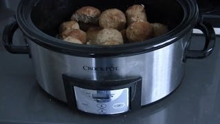 Crock Pot - Ground Turkey Meatballs Recipe