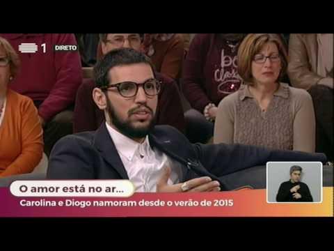 Carolina Deslandes e Diogo Clemente Entrevista no programa