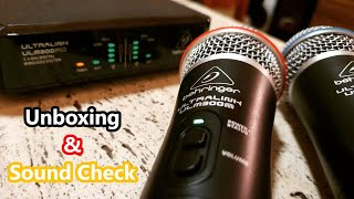 Behringer ULTRALINK ULM302MIC Kabellose Mikrofone - Unboxing und Soundcheck