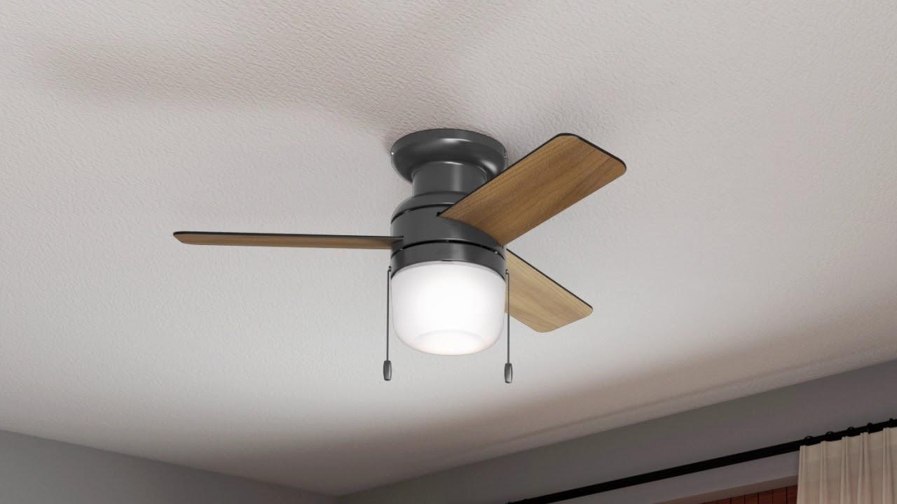42 black ceiling fan indoor outdoor hunter 59465 42
