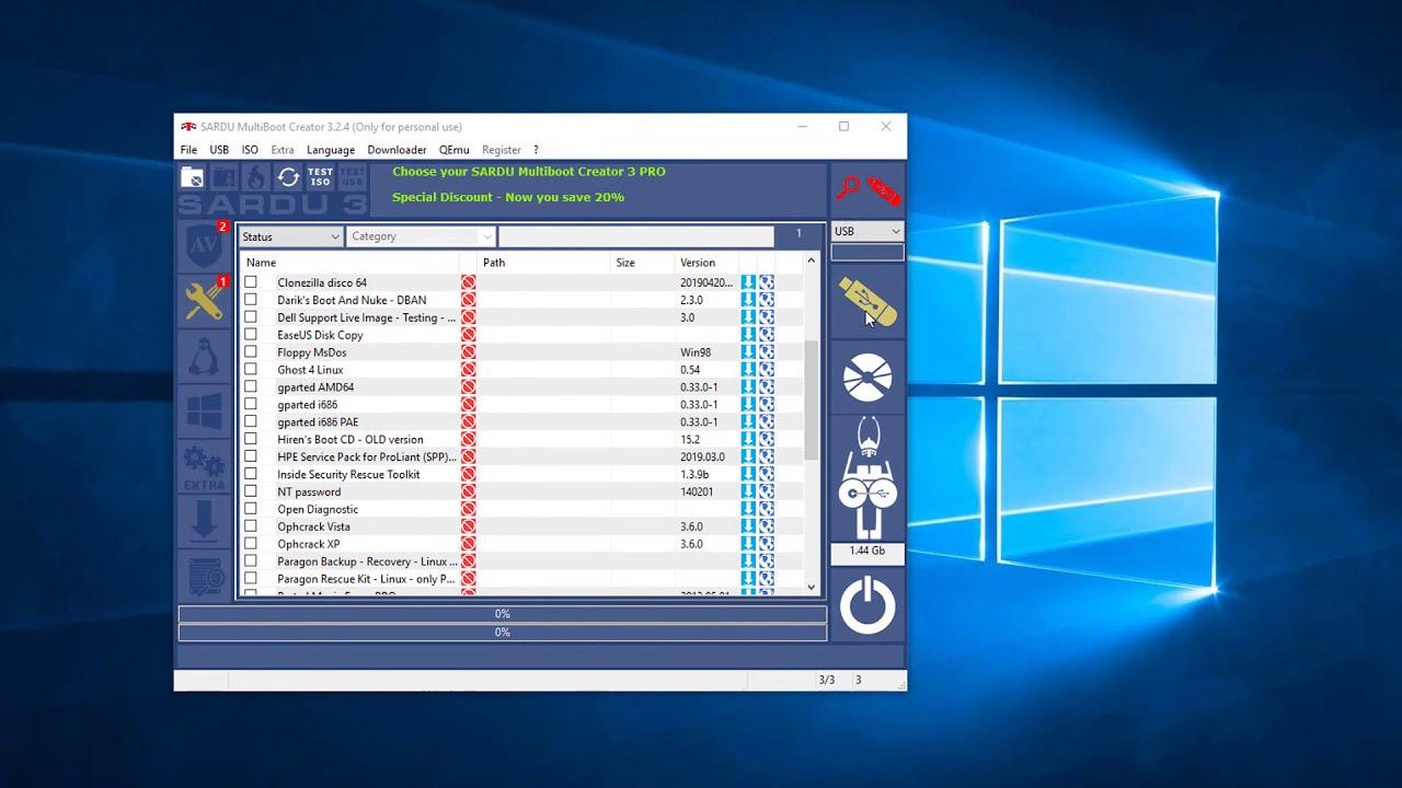 SARDU MultiBoot Creator Installation and Create a MultiBoot USB Guide 2019