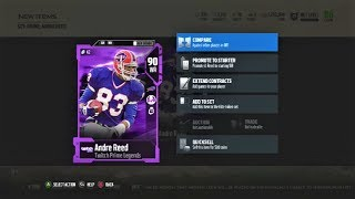 Madden 18: New Twitch Prime Legend Card!! 90ovr WR Andre Reed!! Double XP and LVL 40 Cap!!