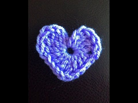 How to crochet a Heart for beginners: Left hand