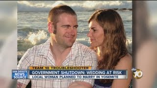 Government shutdown ruins dream wedding for San Diego bride