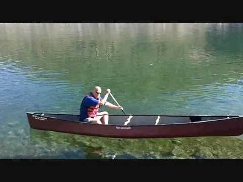 Tandem Canoe Paddled Solo .wmv