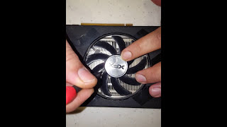 How to fix XFX GPUs Fans - Lubricate / Service !