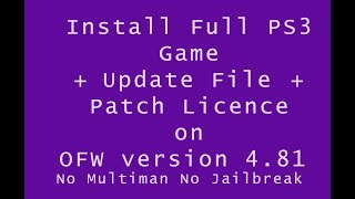 How to put PS3 games on the hard drive without jailbreak No Multiman