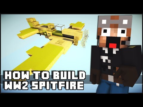 Minecraft Vehicle Tutorial - WW2 Spitfire Fighter Plane