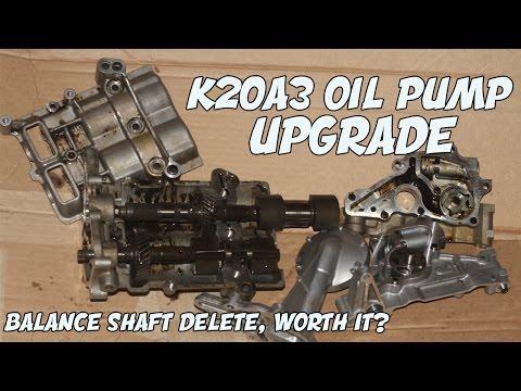 K20 OIL PUMP UPGRADE | SHOULD YOU DELETE BALANCE SHAFT?