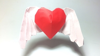 3D Heart: Origami Angel Heart 1.0 (Wing Heart) by PaperPh2