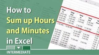 La somme des heures et des minutes dans Excel par Chris Menard