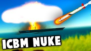 Tomahawk ICBM NUKE vs Aircraft CARRIER! Can it be DESTROYED?! (Ravenfield Best Mods)