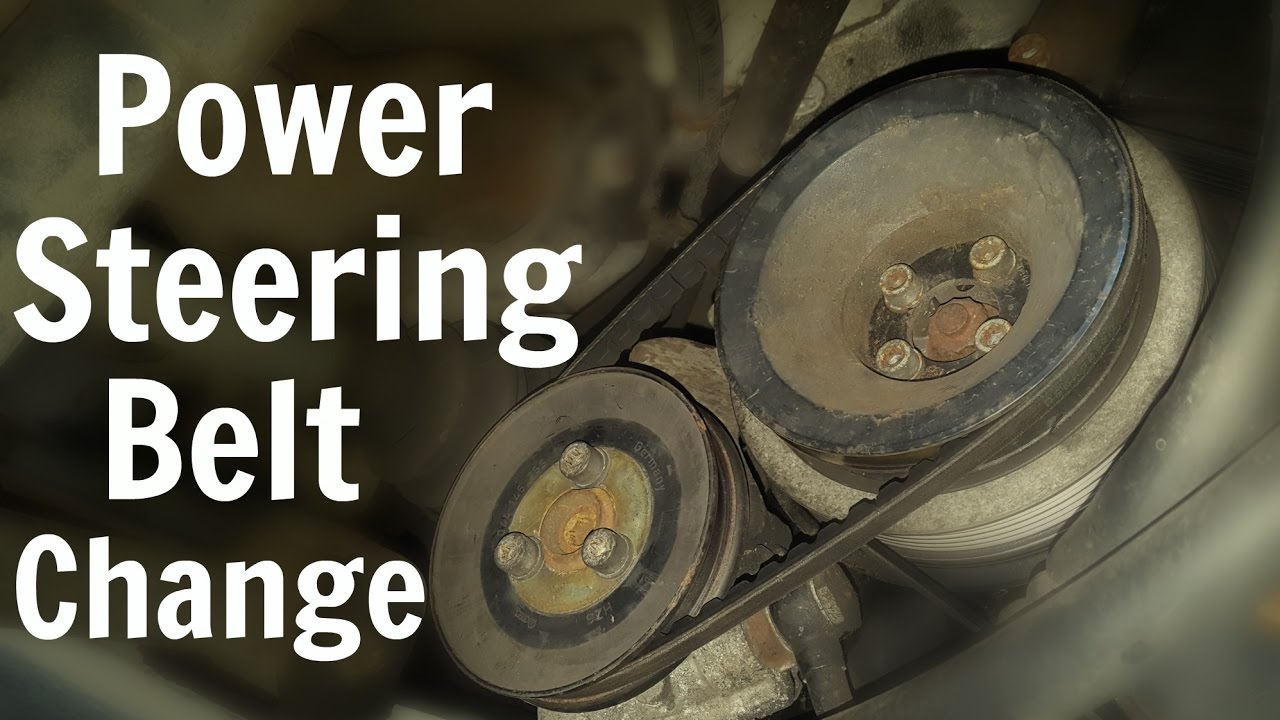 VW T4 Power Steering Belt Change  Volkswagen Transporter  YouTube