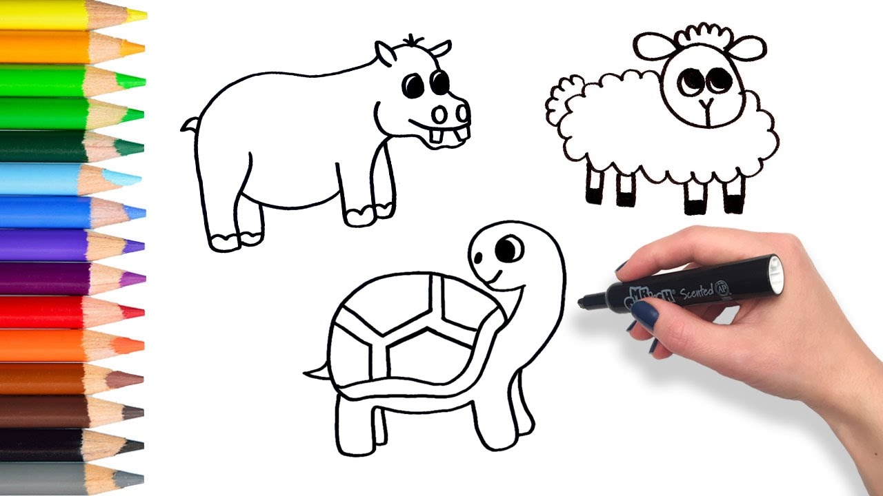 Learn How To Draw Animals Teach Drawing For Kids And Toddlers