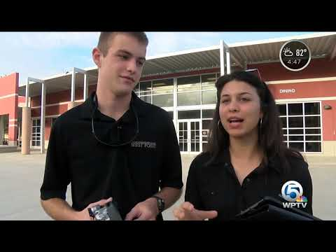 Fort Pierce Central High School students use drone technology to keep fellow students safe