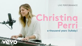 "Christina Perri - ""a thousand years (lullaby)"" Live Performance 