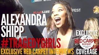 "Alexandra Shipp interviewed at the LA Premiere of ""Tragedy Girls"" at Screamfest"