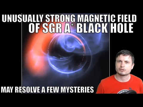 Unusually Strong Magnetic Field of the Sgr A* Black Hole
