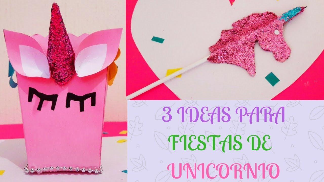 3 Ideas Para Decorar Tus Fiestas De Unicornio Faciles Y Economicas