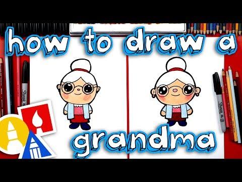 How To Draw A Cartoon Grandma