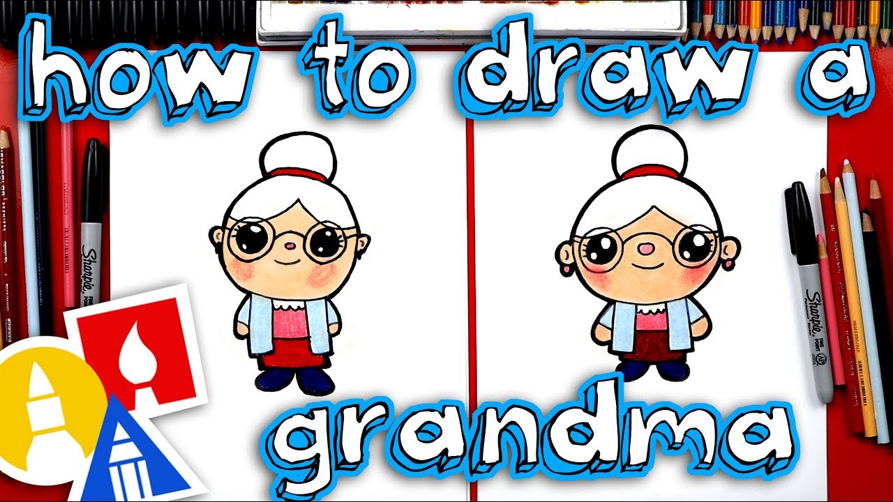 How to draw a grandma 90