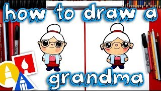 How To Draw A Cartoon Grandma